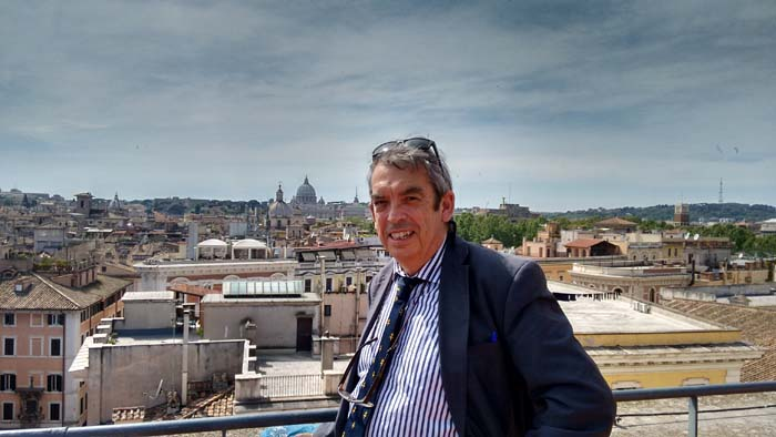 Me against backdrop of Rome & the Vatican